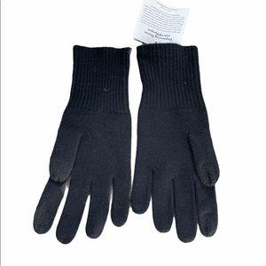 Nordstrom Halogen 100% Cashmere tech gloves black